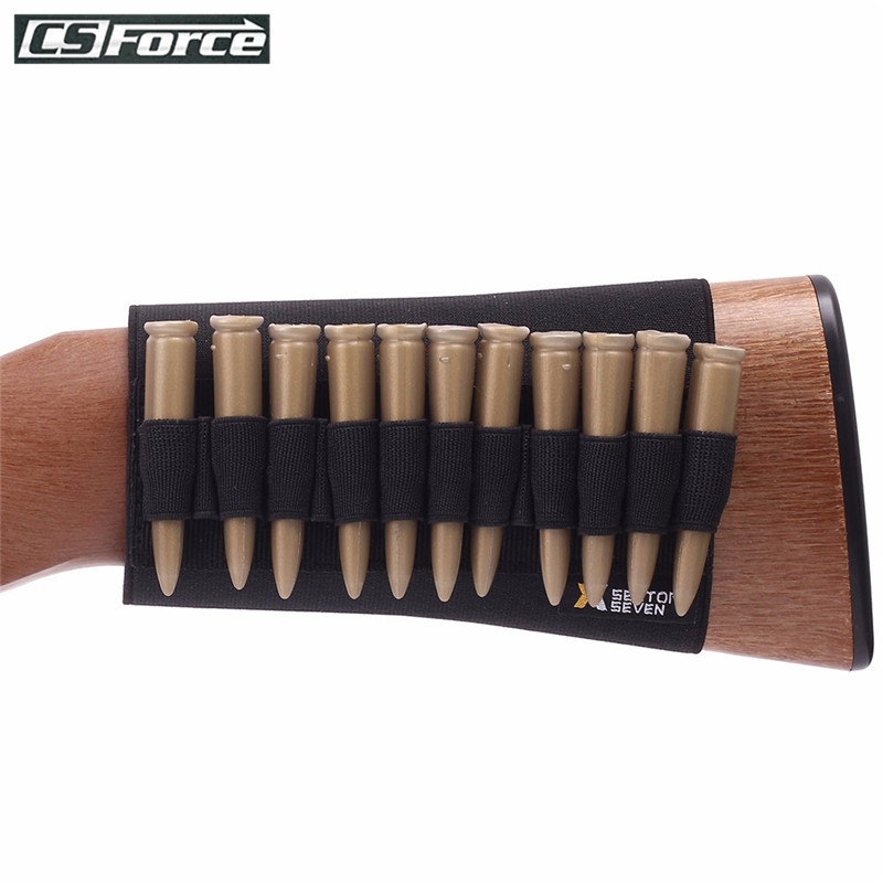 Tactical 14 Round Buttstock Ammo Holder Rifle Bullet Carrier For .22/.223/.204cal Ammo Pouch Shell Holder Hunting Accessories