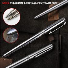 Stylo tactique en titane, stylo à encre et stylo à bille, auto-défense, brise-verre, survie en plein air, outil EDC, Collection cadeau