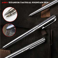 Titanium Tactical Pen Fountain Ink Pen And Ball-Point Pen Self Defense Glass Breaker Outdoor Survival EDC Tool Collection Gift