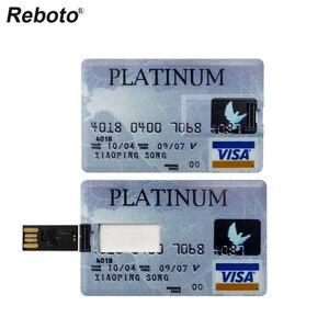 Image 2 - Real Capacity Pendrive Credit Card Pen Drive Bank Card USB Flash Drive 64GB 32GB 16GB 8GB 4GB Memory Stick