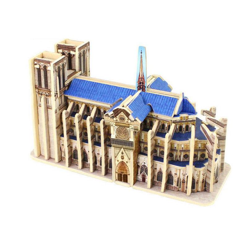madera diy modelo de construccin de notre dame de paris paris landmark building juguete educativo sminiatures