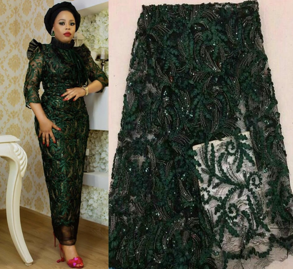 2019 Latest French Nigerian Laces Fabrics High Quality Tulle African Laces Fabric Wedding African French Tulle Lace ZJ013