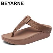 BEYARNEWomens Flip Flops Fashion T Shaped Platform Slippers Ladies Casual Beach Sandals Outdoor Slides Summer Holiday Slipppers