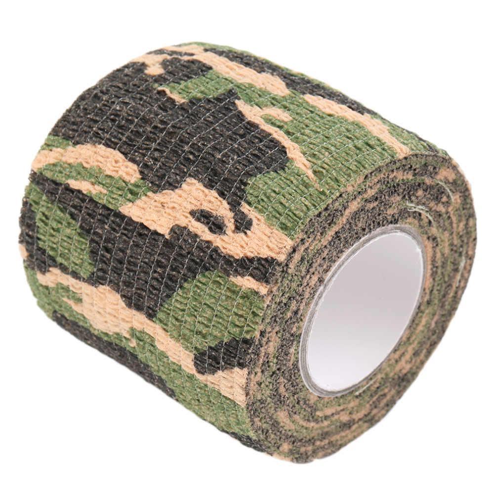 Discrição Fita Elástica À Prova D' Água Militar Camuflagem do exército Camo Envoltório Fitas Paintball Gun Shooting Estiramento Bandage Ferramentas de Caça