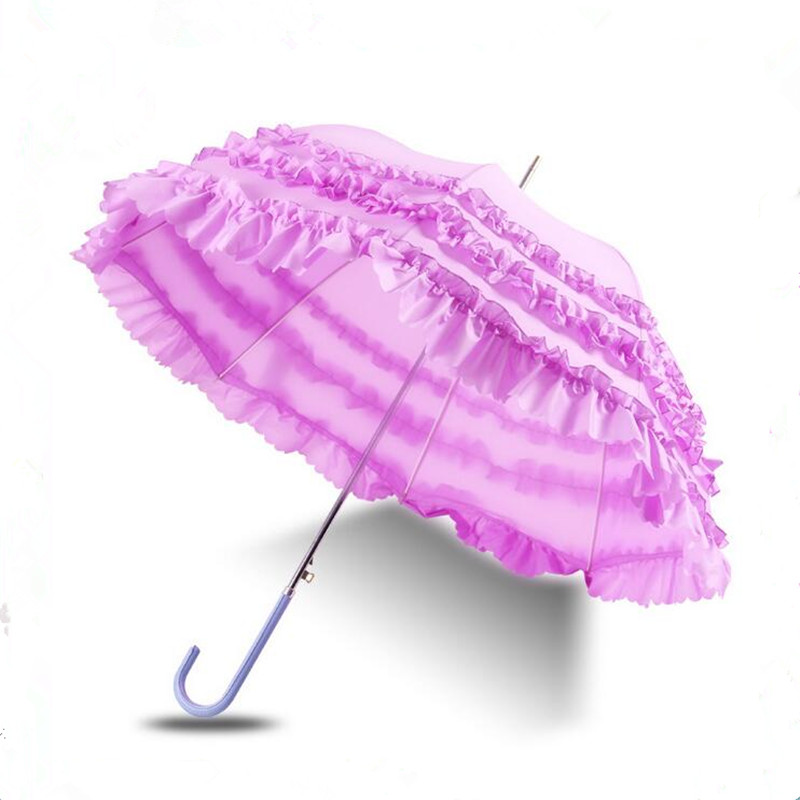 Hot Sale Princess Lace Cosplay Paraply Vaulted Brand Paraplyer Vinyl - Hushållsvaror