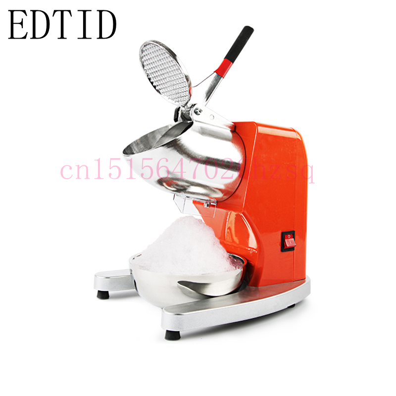 EDTID electric commercial cube ice crusher shaver machine for commercial shop ice crusher shaver jiqi electric ice crusher shaver snow cone ice block making machine household commercial ice slush sand maker ice tea shop eu us