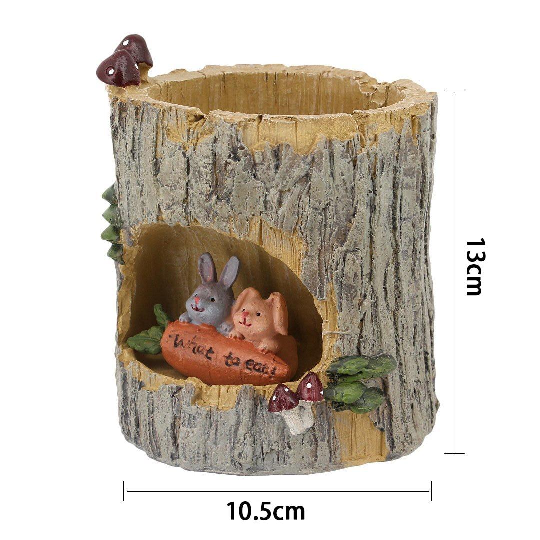 Горячие творческие растения горшки кисть горшки, кашпо для цветов очиток сочные растения стол Сад номер декора горшок, сладкий кролик