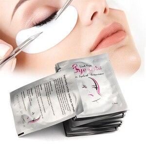 Image 5 - 100 זוגות מכירה לוהטת עדין ריס רפידות ג ל תיקון עין רפידות מוך משלוח ריסים הארכת מסכת Eyepads סיטונאי