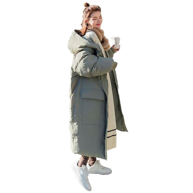 ฤดูหนาวฝ้าย Parka Coat BF สไตล์หลวมสบายๆ Warm Thicken เสื้อแจ็คเก็ตขนาดใหญ่ Coat Women Q957-ใน เสื้อกันลม จาก เสื้อผ้าสตรี บน   1