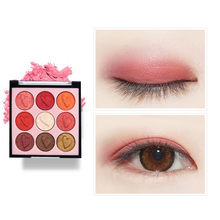 Eyeshadow Palet Makeup Kosmetik Berlian Glitter Metalik 9 Warna Nude Lembut Berpigmen Profesional Mini Shadow Kit(China)