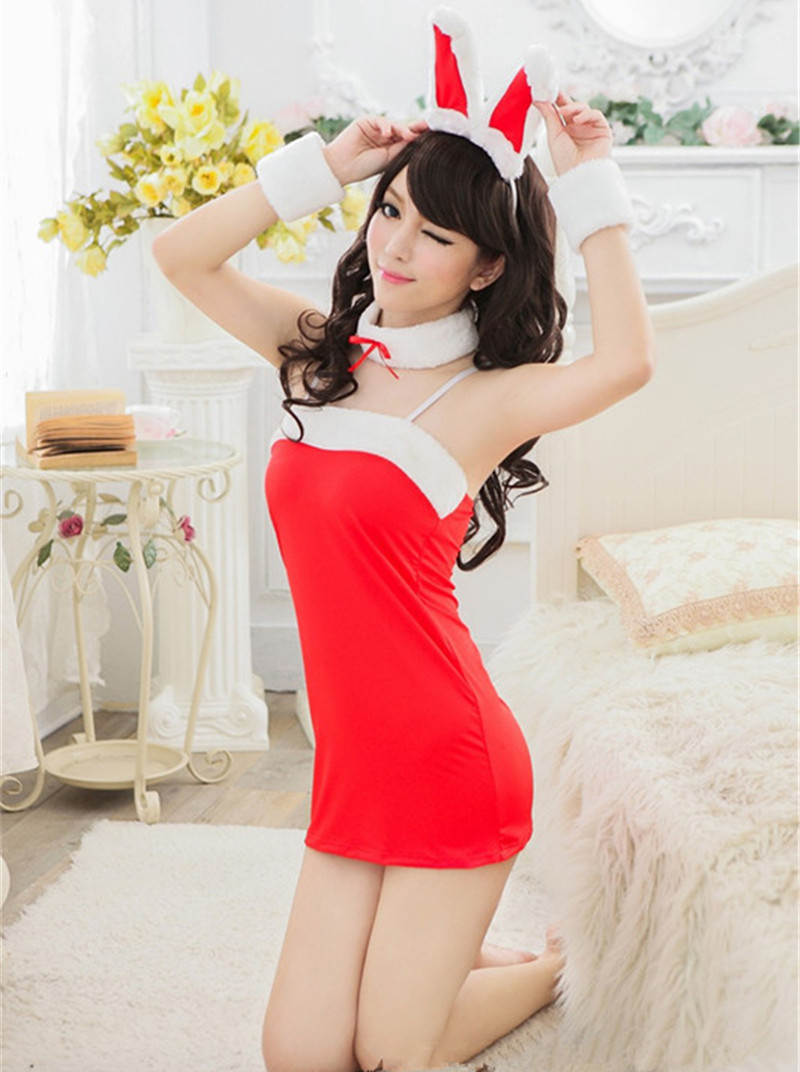 2016 New Sexy Lingerie Christmas Sexy Bunny Costumes Rabbit Women Underwear Lady Christmas Dress Couples font