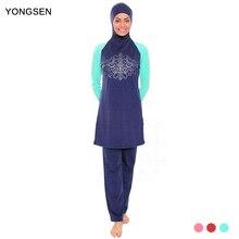 YONGSEN Modest Muslim Swimwear Hajib Islamic Swimsuit For Women mayo Full Cover Conservative Burkinis Swim Wear Plus Size
