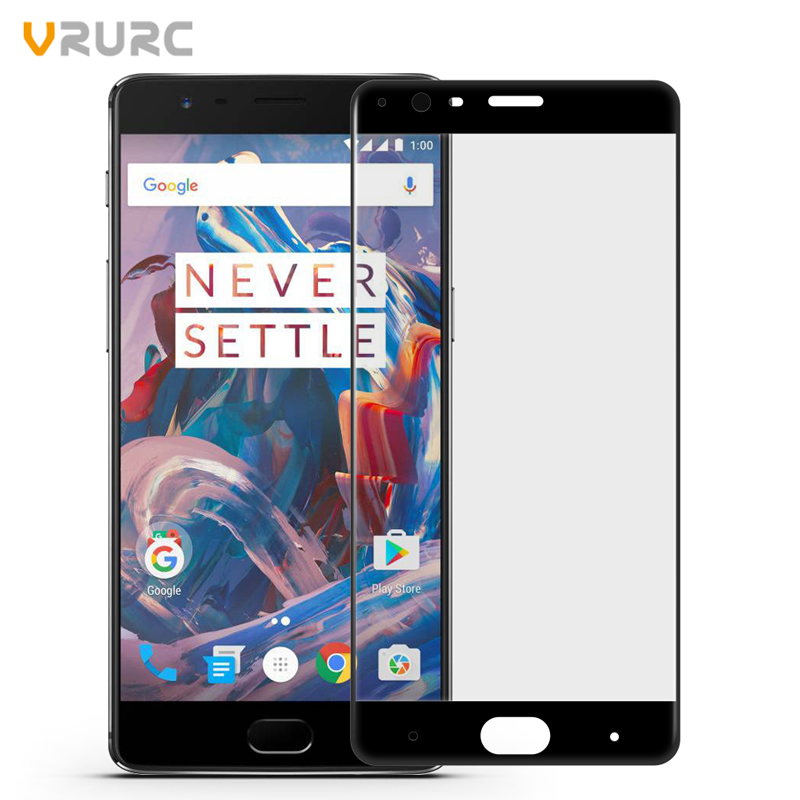 711041aee8f78 Vrurc Tempered Glass for Oneplus three 3D Full cover Screen Protector For  Oneplus 3 Phone glass film