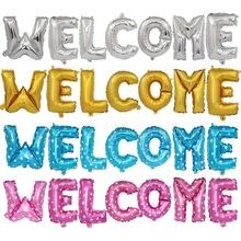 16inch Letter WELCOME Foil Balloons Supermarket Store Decoration Alphabet Air Happy Birthday Party Wedding Celebrations Supplies