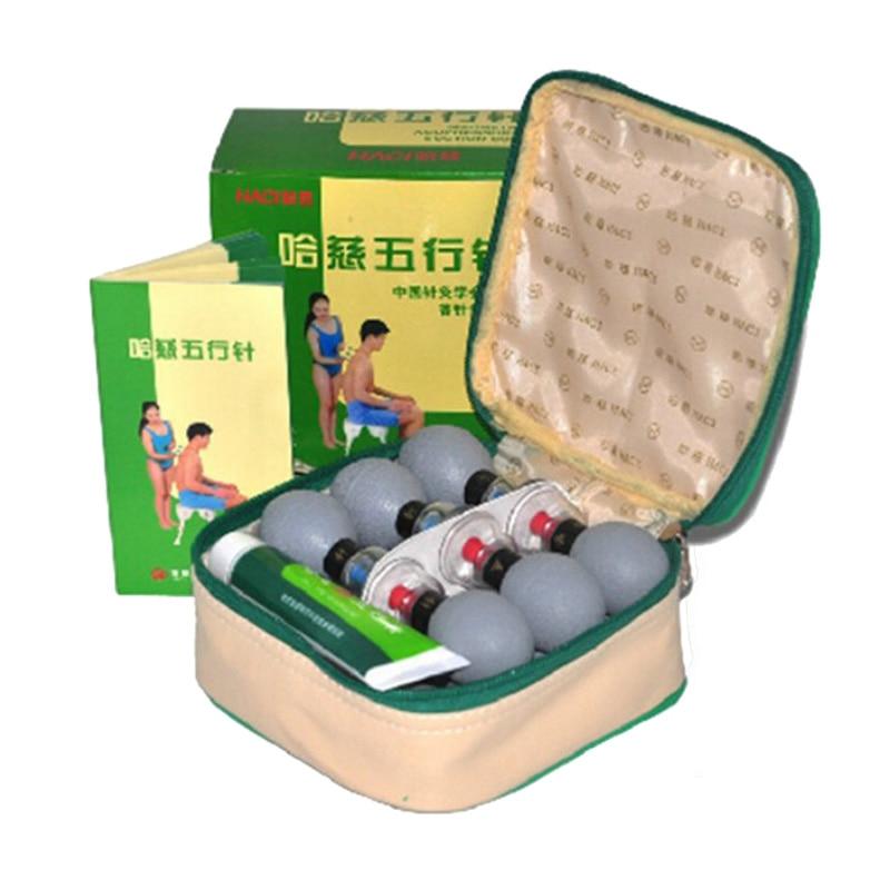 18 pcs Argent Haci Magnétique Thérapie Ventouse ménage Vide Acupression acupuncture et moxibustion Ventouses Ensemble des Soins de Santé