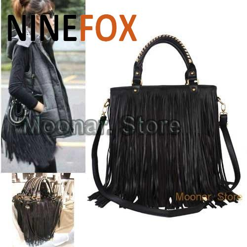 d3c982bb7109 ... Shoulder Bag In Brown For Men  outlet store 55d3e 23cad Southwestern  Cowgirl s Street Western PU Leather Punk Tassel Fringe Womens Fashion ...
