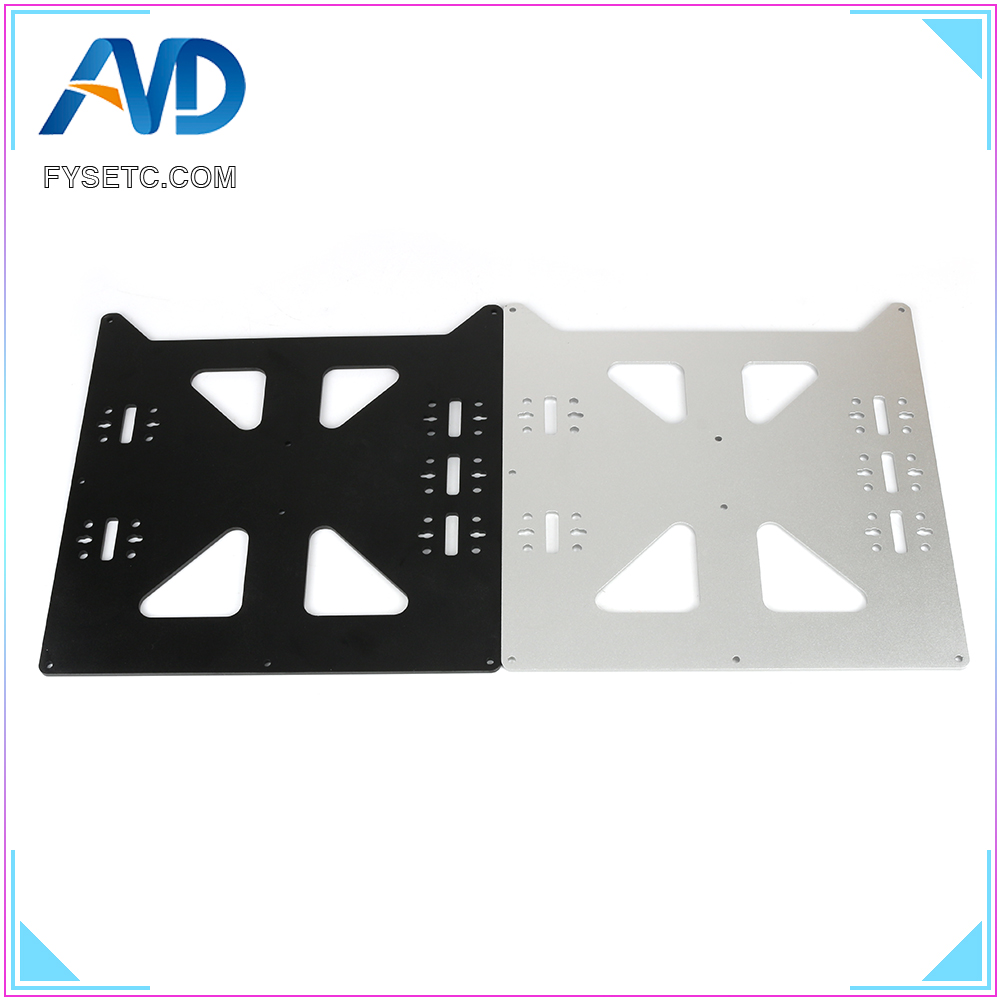 Aluminum Y Carriage Anodized Plate Black Silver Upgrade V2 Prusa i3 V2 Hot Bed Support Plate For Prusa i3 DIY 3D Printer partsAluminum Y Carriage Anodized Plate Black Silver Upgrade V2 Prusa i3 V2 Hot Bed Support Plate For Prusa i3 DIY 3D Printer parts