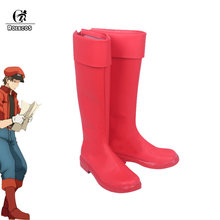 ROLECOS Saibou Hataraku Cosplay Shoes Botas Vermelhas do Sangue Masculino Eritrócitos Cosplay Botas Sapatos Vermelhos(China)