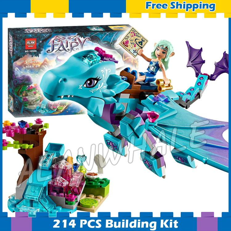 214pcs Elves The Water Dragon Adventure Princess Aqua Element 10500 Model Building Blocks Kit Gifts sets Compatible With Lago image