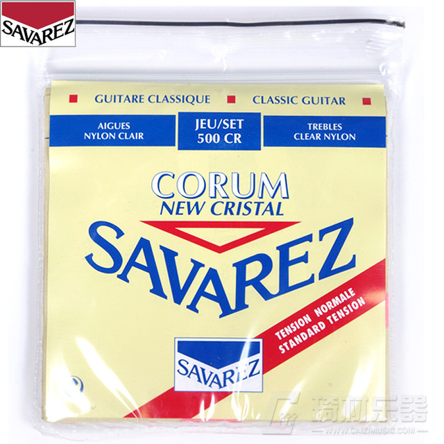 Savarez Classical Cristal Corum Standard Tension Set .028-.042 Classical Guitar String 500CR