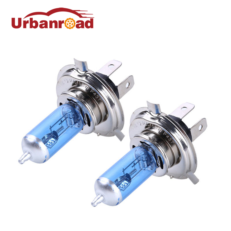 2x Car Halogen Xenon Light Bulb High Low Beam <font><b>H4</b></font> 12V <font><b>60</b></font>/<font><b>55W</b></font> P43T 9003 Super Xenon White 6000K Headlight <font><b>Lamp</b></font> image