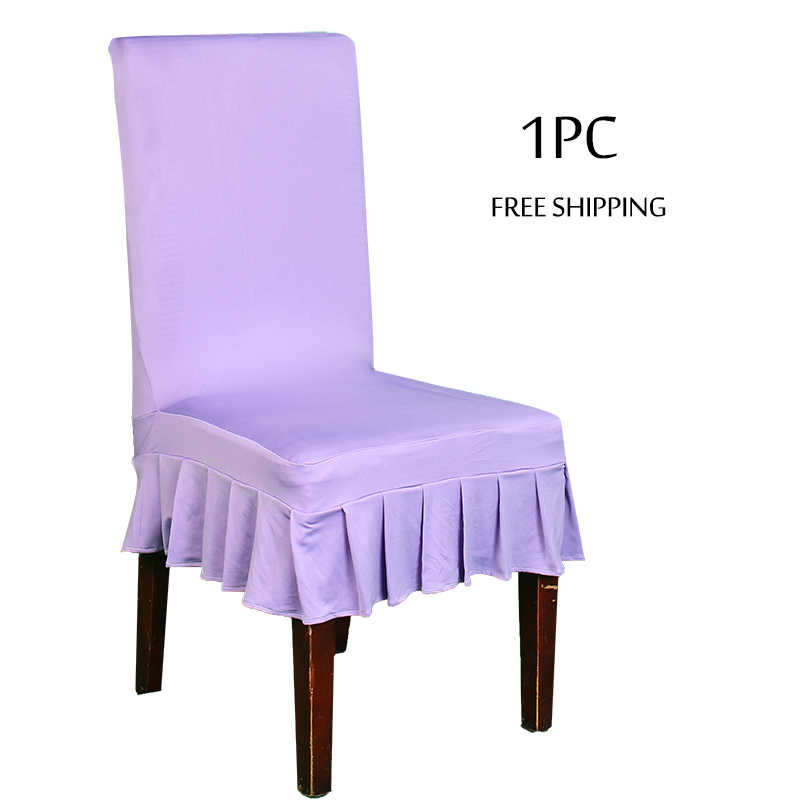 1 Dining Chair Covers Spandex Strech Room Cadeira Protector Slipcover Decor Housse De Chaise For