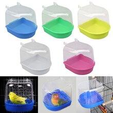 1 шт. водяная ванна для домашних животных птицы Клетка для попугая подвесной аксессуар миска для ванны птицы ПВХ клетка для домашних птиц подвесная Ванна для душа птица