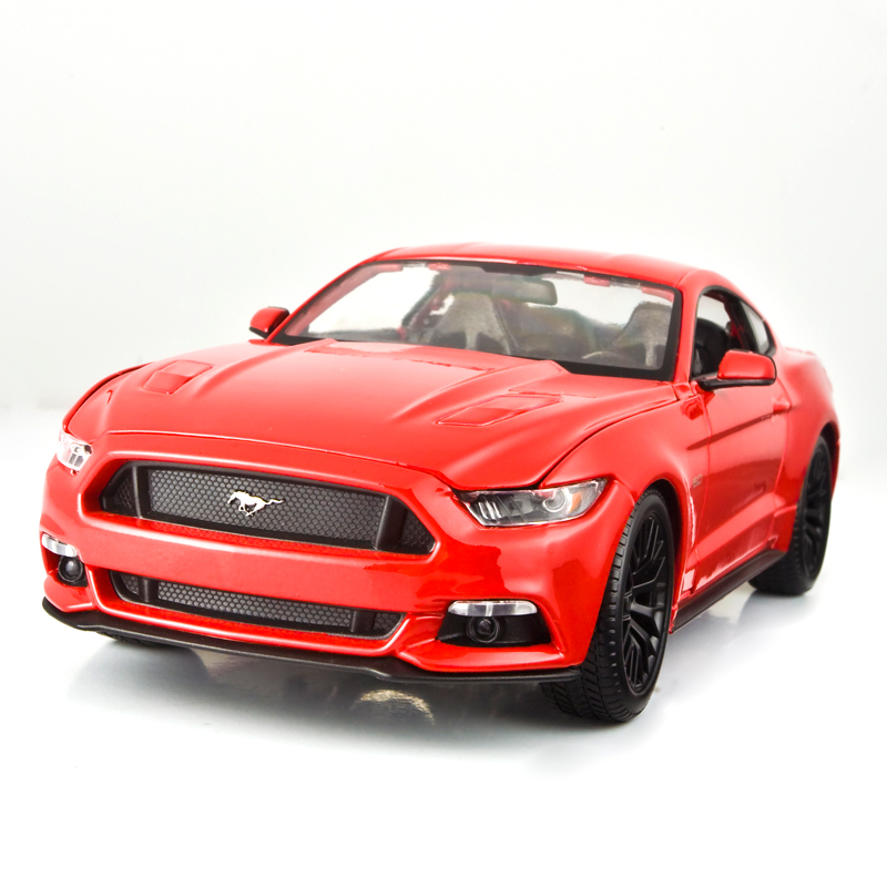 Brand New YJ 1/18 Scale Diecast Car Model Toys Classical Ford Mustang GT Supercar Metal Model Toy for Gift/Collection brand new norev 1 18 scale germany audi a4 dtm 2011 14 9 racing car diecast metal model toy for gift kids collection