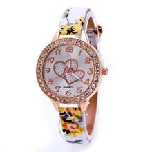 Durable Fashion relogio feminino Women Watch Loving Heart Women Faux Leather Strap Band Analog Quartz Wrist Watch