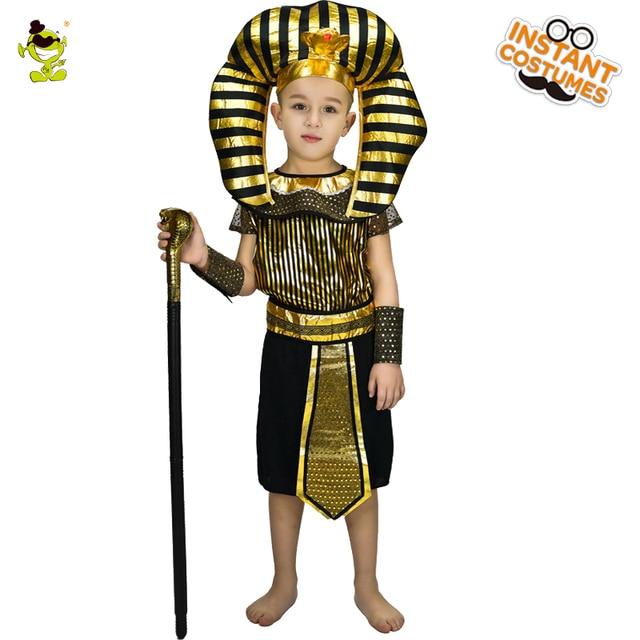 new design kids egyptian priest costumes boys honor egypt leader fancy dress for children halloween