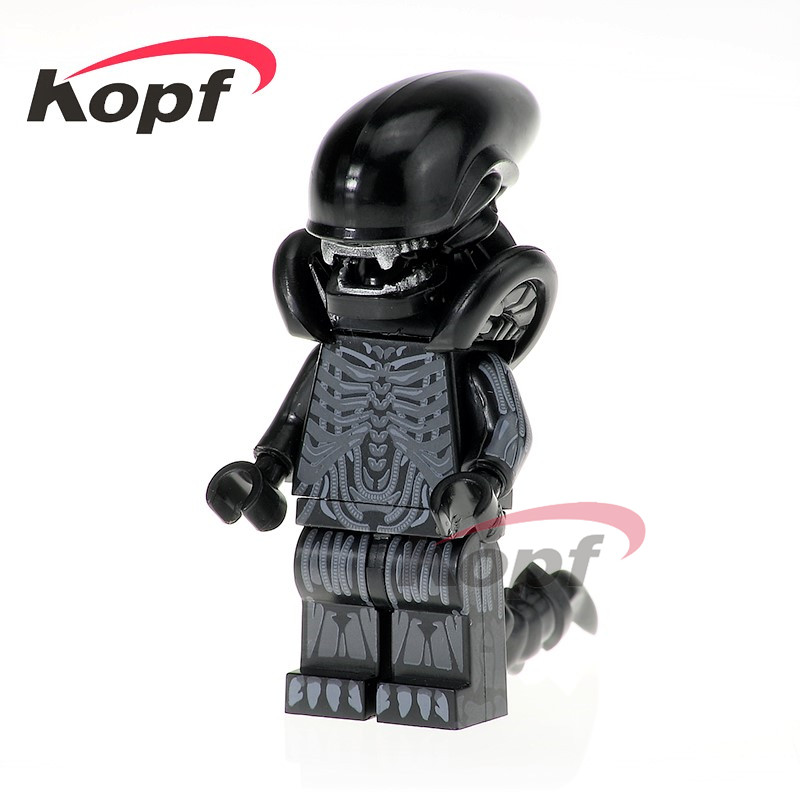 Single Sale Super Heroes One-Eyed Alien Halloween Upgraded Version With White Teeth Building Blocks Children Gift Toys PG1050 single sale super heroes homecoming spiderman with hand spidder