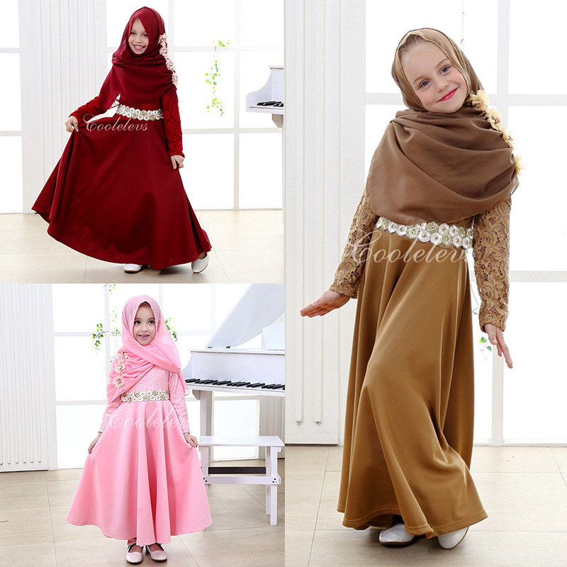 Fashion Kids Girl Princess Dress Costume Cosplay Vestidos ...