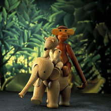Puzzle Wooden Monkey Toys for Kids