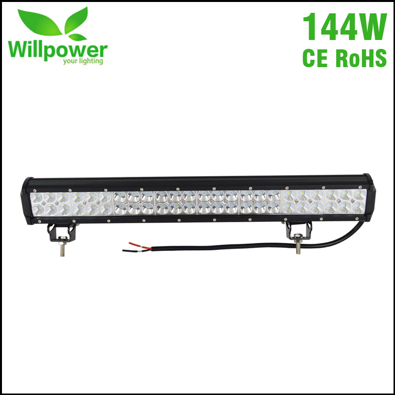 ФОТО IP67 Waterproof 4x4 car combo beam double rows 144W 22 Inch offroad Led Light Bar 12 volt