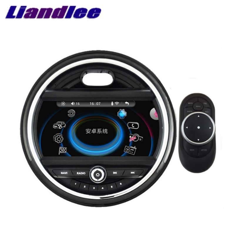 Liandlee For Mini One Cooper S Hatch F55 F56 2014~2018 Car Multimedia Player NAVI iDrive CarPlay Adapter Radio GPS Navigation