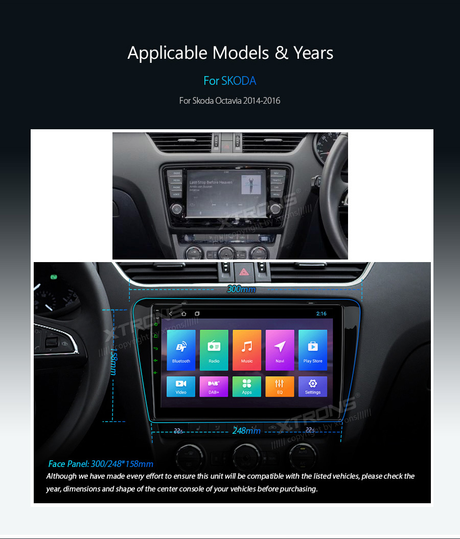 """Best 10.1"""" Android 8.1 OS Car Multimedia Navigation GPS Radio for Skoda Octavia 2014 2015 2016 with Split Screen Function Support 3"""