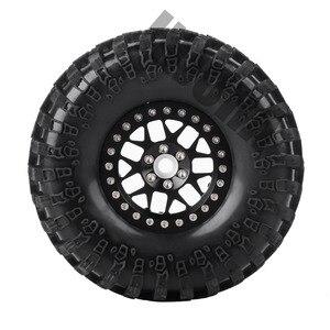 Image 3 - INJORA 4 ADET 2.2 Inç Beadlock Tekerlek Jantları ve Kauçuk Lastiği 1/10 rc kaya paleti Eksenel SCX10 RR10 AX10 Wraith 90048 90018 KM2