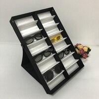 8 Slots 12 Slots 18 Slots Eyeglass Sunglasses Display Case Jewelry Storage Organizer Collection Box