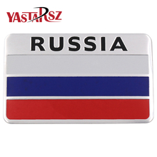 2017 high quality 3D Aluminum Russia Flag car sticker accessories stickers For chevrolet for skoda for honda car styling
