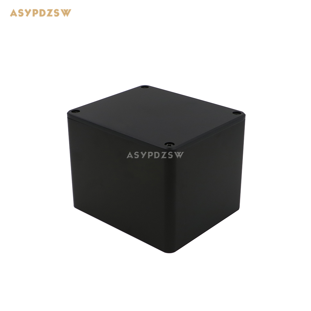 Full aluminum sandblasting BLACK 130*110*99 Transformer cover Power transformer protect cover Box chassis led driver transformer waterproof switching power supply adapter ac170 260v to dc12v 200w waterproof outdoor ip67 led strip
