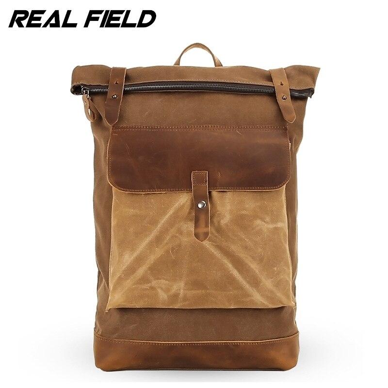 Real Field Large Capacity Travel Backpack Male Messenger Shoulder Bag Computer Backpacking Men Multifunctional Versatile Bag 253