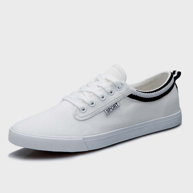 04b8f1e0fb1 new arrival men white casual shoes flat canvas shoes cool guys hip hop shoes  breathable walk casual shoes size 39-44