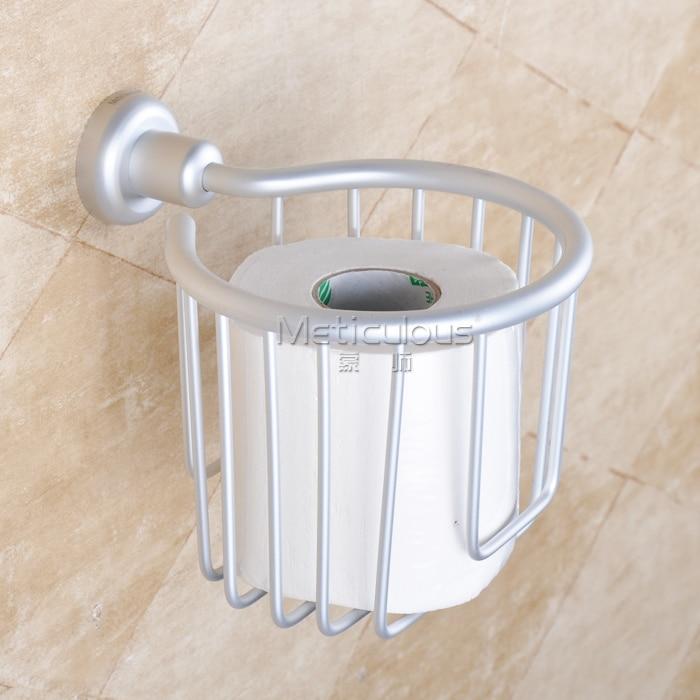 цена на Aluminum bathroom accessories toilet paper holder toilet tissue box drum roll
