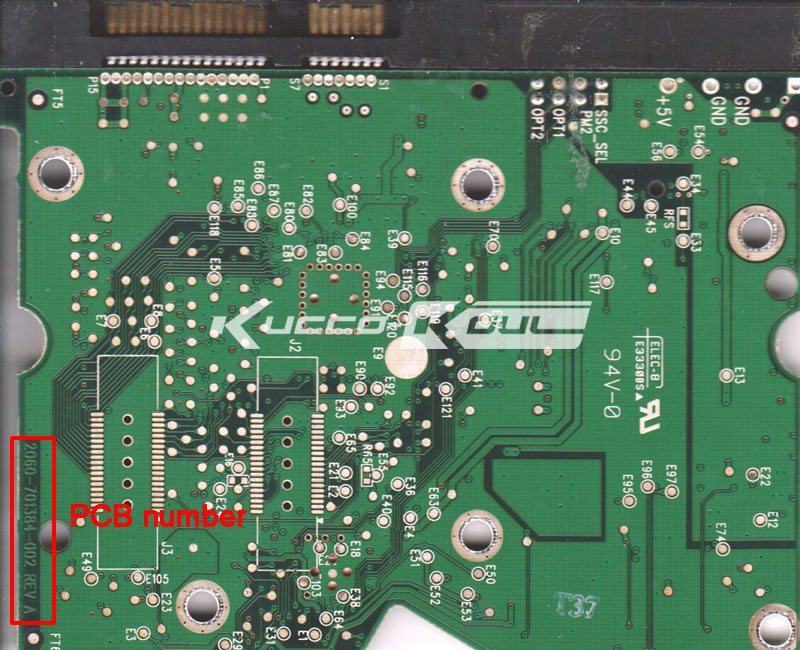 HDD PCB Logic Board 2060-701384-002 REV A For WD 3.5 SATA Hard Drive Repair Data Recovery