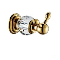 Free Shipping crystal & brass gold robe hook bathroom hangings gold towel rack clothes hook CY001