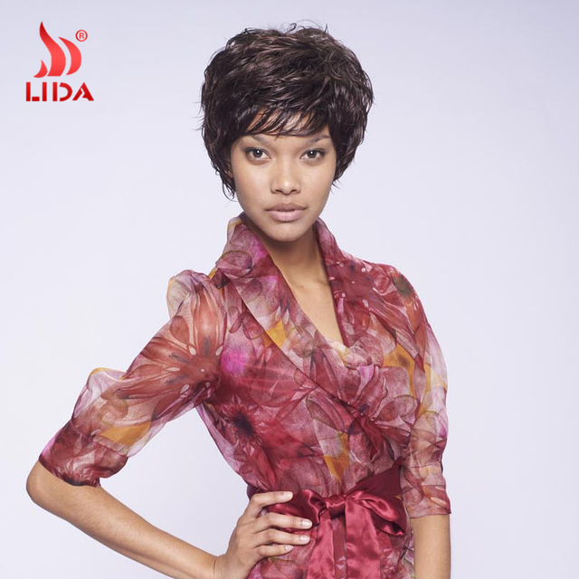 2016 Popular Synthetic Wigs For Black Women Color 2/33  Short Synthetic Wigs 100% Kanekalon Synthetic Wigs African American Wigs