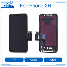 Elekworld בצורה מושלמת באיכות TFT מלא קדמי הרכבה עבור iPhone XR LCD תצוגת מסך מגע Digitizer עצרת החלפת חלק
