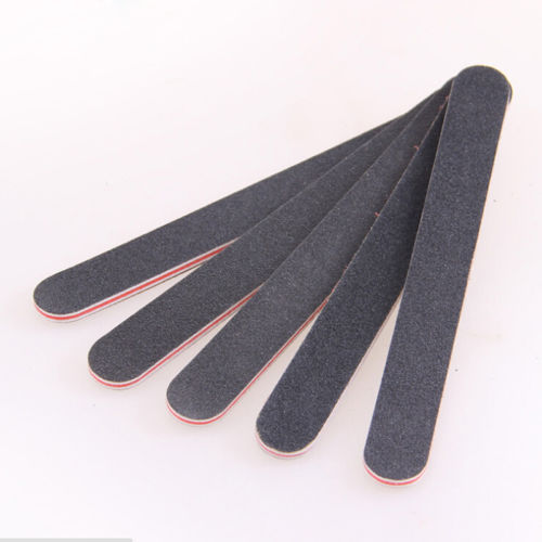 3 PC/Lot Lady Pro New Double Black Sided Nail Art Manicure Sanding File