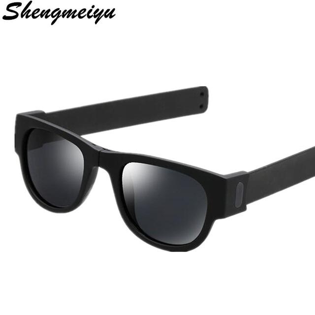91da8c949bc4 € 2.67 |Aliexpress.com: Comprar 2018 nuevas gafas de sol de las mujeres  slappable pulsera Sun gafas para hombres pulsera Fold sombras oculos moda  ...