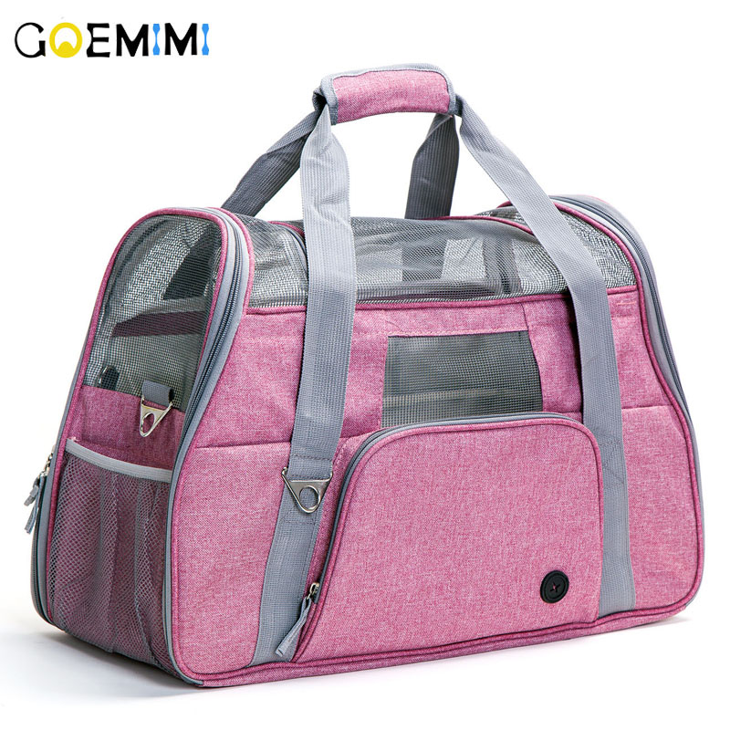 New Arrival Dog Cat Breathable Carrier Oxford Mesh Pet Handbag Top Quality Outside Portable Cat Travel